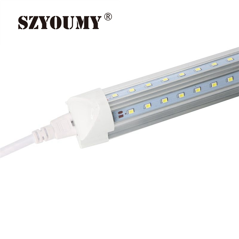 SZYOUMY T8 Integrated Cooler Door 8ft 2.4m 2400mm 48W Led T8 V shaped LED Tube SMD2835 384pcs led 85-265V Fluorescent Lighting<br>