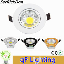High Power 6W 9W 12W 15W 18W led Ceiling light dimmable COB LED ceiling lamp Recessed Spot light 110V-220V for home illumination