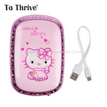 6000mAh Power Bank Lovely Hello Kitty Power Bank Portable Charger for All Phone