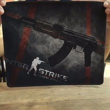 Black background CS AK 47 Mouse Pad Computer Mousepad CS GO Large Gaming Mouse Mats To Mouse Gamer Anime Rectangular Mouse Pad