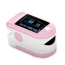 Free Shipping PINK Fingertip Oximeter, OLED color display Fingertip Pulse Oximeter Spo2 Test Monitor , 6 colors adult CMS50D(China)