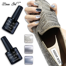 Buy Beau Gel Bling Nail Lacquer Semi Permanent Color Paint Nail Polish Long Lasting UV Nail Varnish Nagellak Pro Manicure 10ml for $1.33 in AliExpress store