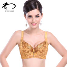 DAIWEIZHI Female lace bralette push up bra Adjustable Essential oil padding Lingerie for women sutian sexy silk underwear V21275(China)