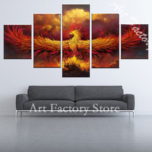 up to date HD Printed Comics Phoenix Painting on canvas decoration room print canvas poster image Home Decoration(China)