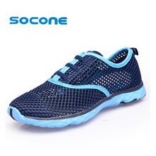 Socone Women Breathable Running Shoes Plus Szie 36-47 Summer 2017 Beach Water Shoes Men Mesh Walking Shoes Sport Sneaker zapatos