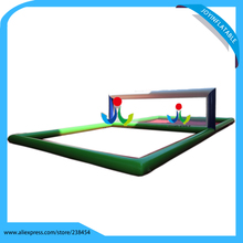 12X6X1.5m Inflatable Water Volleyball Field Water Park Equipment Outdoor Inflatable Sport Court Volleyball stand(China)