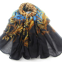2016 new leopard print leaves Seasons wild cotton voile scarves long scarf shawl female sunscreen shipping 180 * 95 cm