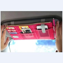 3 Colors Car Sun Visor Receive Bag Car Boot Organiser Storage Bag Box Multi-Use Tools Organizer For Fuel Card Mobile Phone