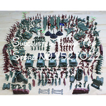 JIMMY BEAR 307 Pcs/set Soldier Kit Grenade Tank Aircraft Rocket Army Men Sand Scene Models