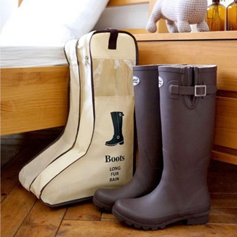 Portable Storage Bags Shoe Cover Length boots snow boots shoes Storage Bag visualization dustproof(China)