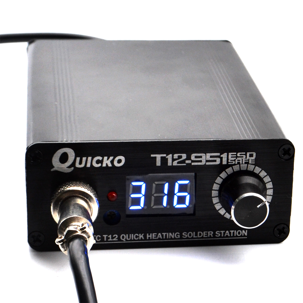 New version STC-T12-Q17 Digital Soldering Iron Station adjustable temperture T12 soldering station welding iron<br>