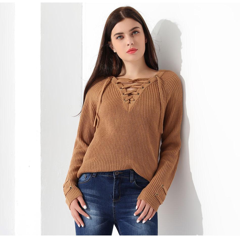 Women's Pullover Long Sleeve KnittedSweater 33