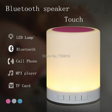 Portable Mini LED Bluetooth Speakers Wireless Small Music Audio TF USB Light Stereo Sound Speaker For Phone with Mic