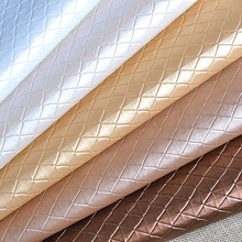 100x135cm Diamond Lattice Pvc Fabrics For Bed Headboard Leather Upholstery Fabric For Furniture Telas Para Muebles Tissu Telas(China)