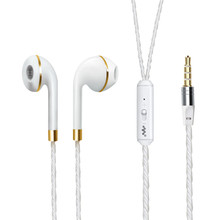 New Earphone Stereo Headphones 3.5mm Plug Wired Earphones with Mic Good Sound Headphone for Android iOS System Heavy Bass Earset(China)