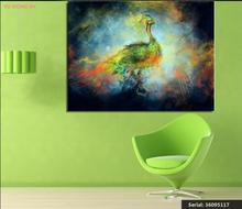 Peacock Animal Abstract oil Painting Drawing art Spray Unframed Canvas children wax wine wine children miniature36095117(China)