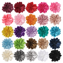 25pcs Satin Flower DIY Hairpins Headbands Girls Silk Multilayer Handmade Floral Accessories AC001(China)