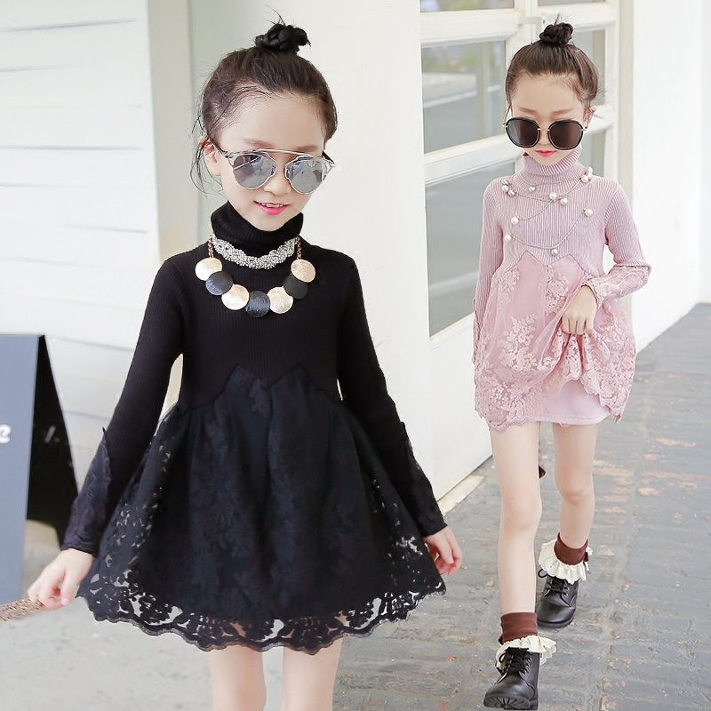 2018 spring retail lace flower girl dress children kids beautiful wedding party dress girl formal party pageant long princess<br>