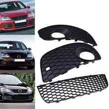Car-styling 1pair Front Bumper Lower Grilles Fog Grills Cover Decoration Fit for VW Golf MK5 GTI 2004-2009 Car Replacement
