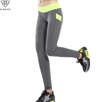 B. BANG Femmes Yoga Pantalon Patchwork Crayon Pantalon Femme Taille Basse Fit Sport Serré Élasticité Fitness Libres Leggings