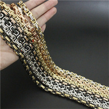 22 inch 8mm/6mm/4mm Cool Man 7 colors Necklace Jean Chain 316L Stainless Steel Fashion Polishing Golden Biker Style Necklace