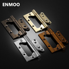4 Inch Stainless Steel hinges for Doors High Quality Mute Bearing Hinges Wood Door Accessories Free slot Hinges