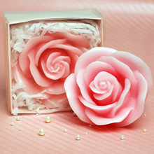 Romantic rose shape decorative candles for wedding favors and gifts happy birthday candles party supplies(China)