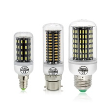 E27 E14 G9 GU10 B22 SMD 4014 Lamparas Led Light 38 55 78 88 140Leds 220V Smart IC Corn Light Lamp No Flicker Constant Current
