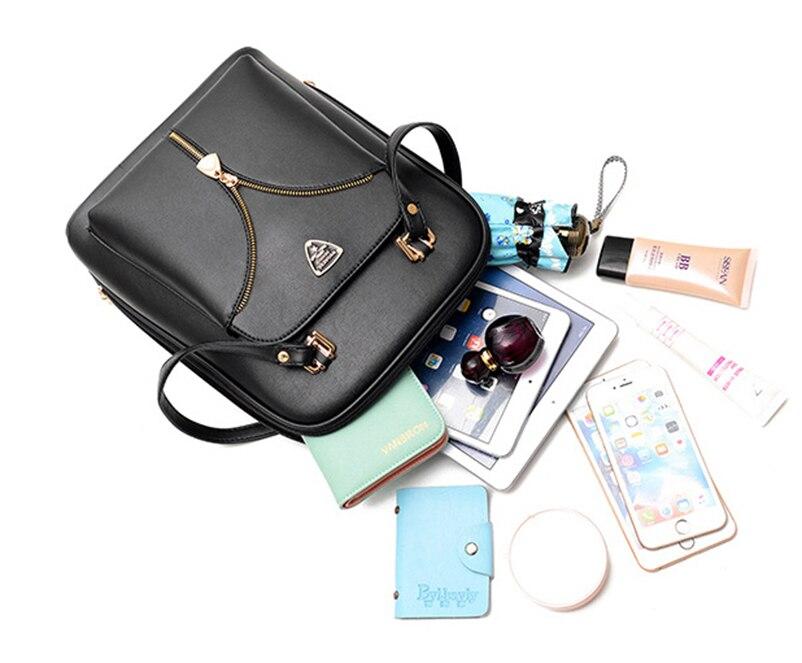 Nevenka Anti Theft Leather Backpack Women Mini Backpacks Female Travel Backpack for Girls School Backpacks Ladies Black Bag 201812