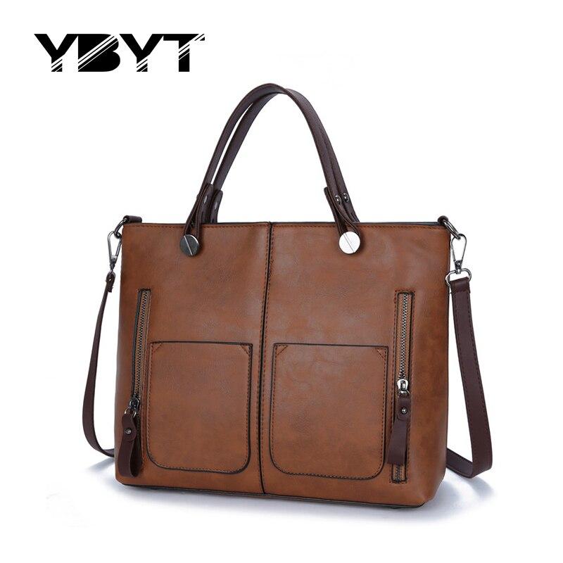 YBYT brand 2017 vintage lady handbags high quality women medium bag PU leather famous designer shoulder messenger crossbody bags<br><br>Aliexpress