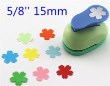 free shipping 15mm flowers paper punches for scrapbooking Diy tools shape craft punch diy puncher paper cutterS298721(China)