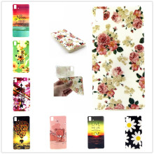 Soft TPU Material Owl Eyel Balloons Elephant Flower Owl Eye Cell Phone BQ Aquaris E5 Case Cover