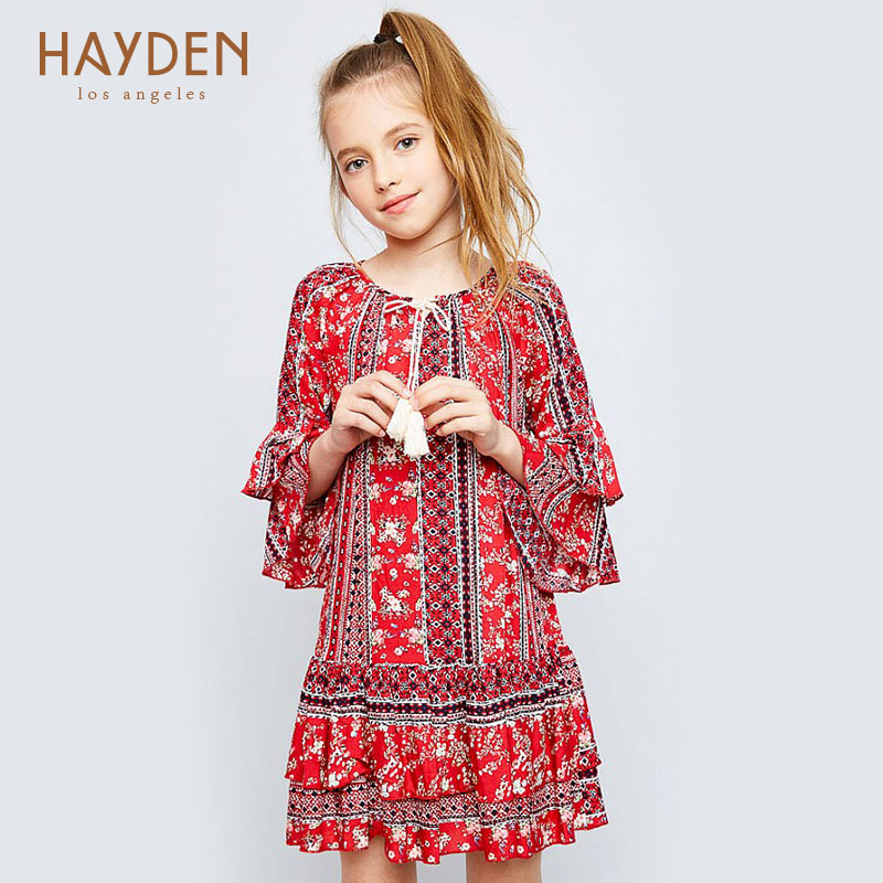 6-12Y Girls Dresses Red Autumn Princess Costume Infant Christmas Clothes 8 12 Year Teenage Girls Clothing Baby Girl Casual Dress<br>