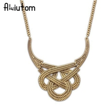 ALIUTOM 2018 New Hot fashion necklace party well, chunky luxurious necklace statement necklace(China)