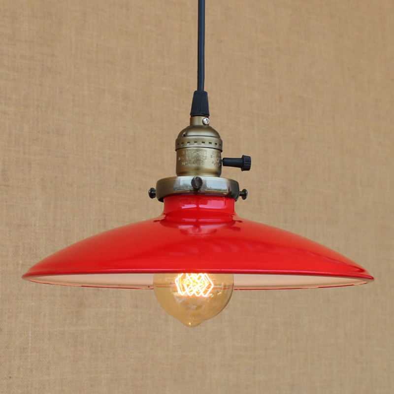 Modern LED pendant lamp vintage hanging E27 light Loft style  Colorful iron lampshade bar/restaurant living room<br>