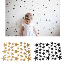39 Star/PC Gold Silver Black White Stars Pattern PVC DIY Wall Art Decals for Kids Room Decoration Wall Stickers Home Decor893920