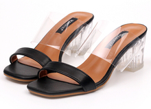Sexy Summer Shoes Women Pumps Perspex Platform Thick High Heels PVC Clear Crystal Classic Fashion Sandals Size35-39