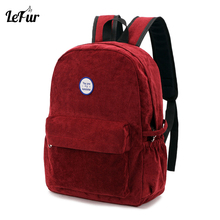 LEFUR Women Retro Backpack Simple Solid Color Bag Ladies Backpack School Bags For Girl Female Rucksack Drop Shipping rukzaki(China)