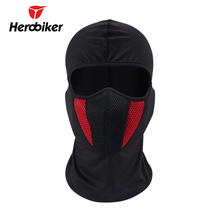 2017 HEROBIKER Men's Motorcycle Face Mask Outdoor Pro Street Windproof Dustproof Motorcycle Riding Neck Face Mask Red Gray
