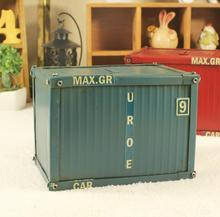 Home Decor Decoration Crafts Figurines iron metal vintage Classic container models Money Boxes free shipping