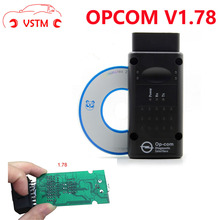 VSTM OP-COM V1.78 1.70 1.65 For Opel for SAAB Chip PIC18F458 HW OPCOM CAN-BUS Interface OP COM with real pic18f458 flash update(China)