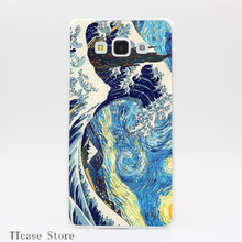 3555CA The Great Starry Wave Of Kanagawa Transparent Hard Cover Case for Galaxy A3 A5 A7 A8 Note 2 3 4 5 J5 J7 Grand 2 & Prime