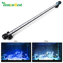 LemonBest 48CM 24LED Fish Aquarium LED Lamp Light Lightning Mini Fish Tank Waterproof Lamp Aquarium Led Lighting for Decoration(China)