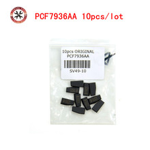 10pcs/lot Car key transponder Blank PCF7936AA transponder chip can replace Original 7936AS Programming Copy Replace lost key(China)