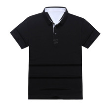 Brand 2017 Fashion Men Clothing Polo Homme Solid Quick Dry Polo Shirt Casual Mens Shirt Tops Cotton Male Slim Fit Polo Shirt 3XL