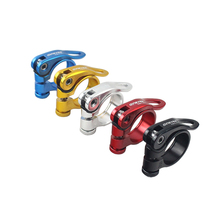 28.6/31.8/34.9mm QR Seat Tube Clamp Alloy MTB BMX Bike Seat Clamp Quick Release Mountain Road Fixed Gear Bike Seatpost Clamp