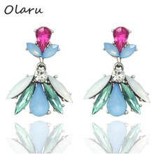 Olaru Jewelry 2017 New Brand Small Cute Cheap OL Stud Earrings Woman Female Hot Statement Fashion Accessories Wholesale Gift