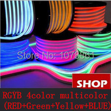 Super quality!!! RGYB(RED+Green+Yellow+BLUE) 220V patented approval 12*24MM 80LED/M F5 DIP led neon flex /Led Neon Flex Tube