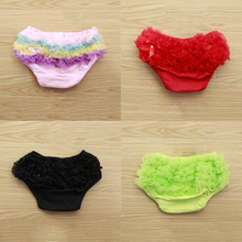 Newborn Toddler Baby Bloomers Panties Girl Cotton Lace Ruffle Nappy Diaper Cover