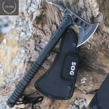 FBIQQ Tactical Axe Tomahawk Army Outdoor Hunting Camping Survival Machete Axes Hand Tools Fire Axe Hatchet Axe/Ice Axe(China)